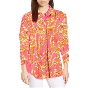 Lilly Pulitzer Resort Fit Button Down Pink Printed